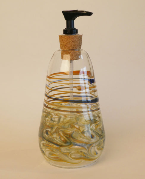 Handblown Glass Soap Dispenser Available in Many Colors