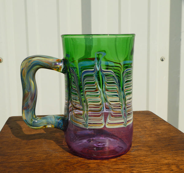 Handblown Glass Beer Stein