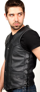 PR1141 Men's Leather vest with Side laces