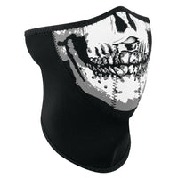 WNFM002H3-Panel Half Mask, Neoprene, Skull Face