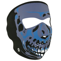 WNFM024 ZAN® Full Mask- Neoprene- Blue Chrome Skull