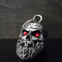 BB-97 Old School Biker Skull Diamond Bell