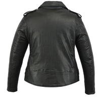 DS850 Women's Classic Plain Side Fitted M/C Style Jacket