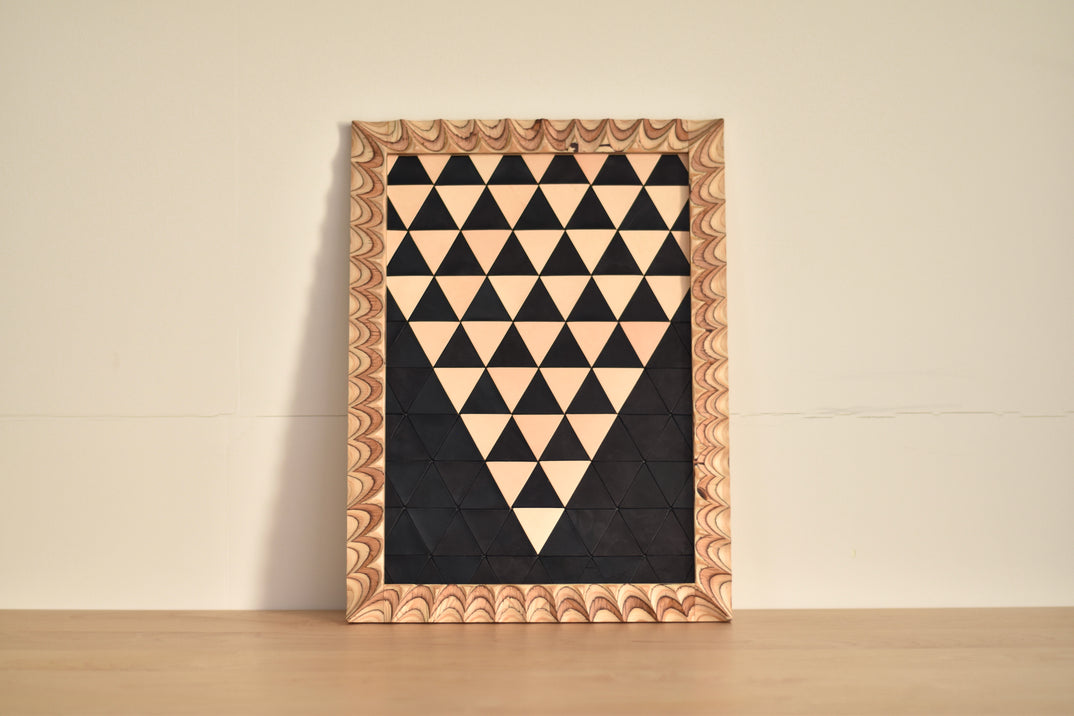 FRAMED LEATHER ART#4