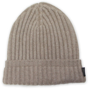 High Top Cashmere Beanie Hat