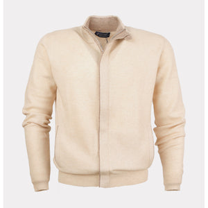 MENS FULL ZIP CARDIGAN WITH CONTRAST TIPPING