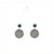 White Gold Plated 925 Sterling Silver Black Onyx Stud Earrings for Women and Girls