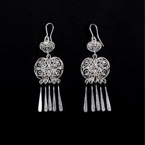 Silver Earrings, Tradition drop Earrings