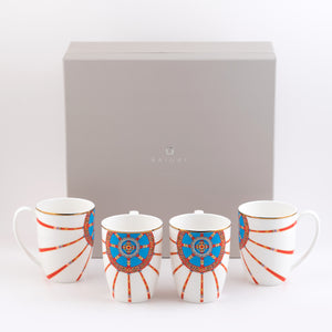"""Toonot"" Porcelain Set of 4 Mugs"
