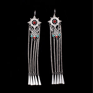 Silver Earrings, Traditional Dangle Earrings  for Women