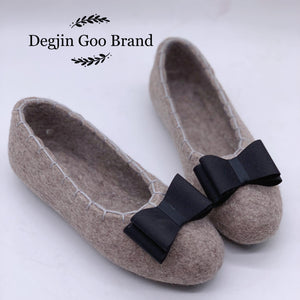 Degjin Goo Brand 100% Wool Felt Shoes for Women