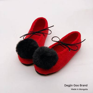 Wool Felt Ballet Shoes for Girls