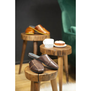 Leather Indoor/Outdoor Slippers for Women