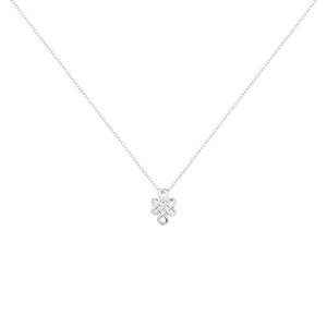 925 Sterling Silver White Gold Plated Necklace for Women and Girls