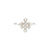 Sterling Silver Zircon White Gold Plated Ring for Women and Girls