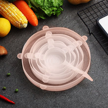 Load image into Gallery viewer, WORTHBUY 6 Pcs/Set Food Silicone Cover Universal Silicone Lids