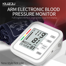 Load image into Gallery viewer, KUIZOU English Automatic Upper Arm Type Electronic Blood Pressure Monitor