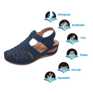 Orthopedic Premium Comfy Lightweight Leather Sandal (From Size 5 - 14)