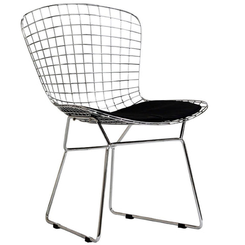 Bertoiay Style Side Chair Wire-Base-Chrome