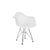 Baby Eamesy Style Armchair Satin Wire-Base-Chrome