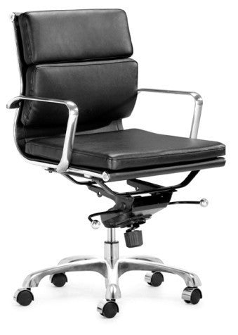 Eamesy Style Office Chair Soft Pad Low Back - Faux Leather