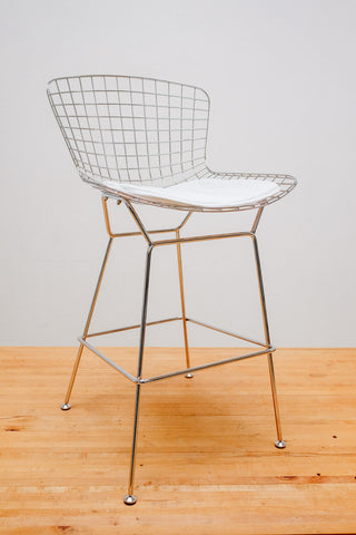 Bertoiay Style Counter Stool Wire-Base-Chrome