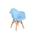 Baby Eamesy Style Armchair Satin Wood-Base-Light