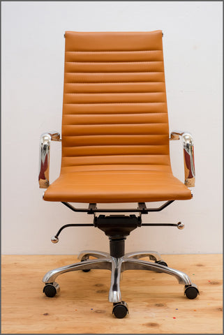 Eamesy Style Office Chair High Back - Faux Leather