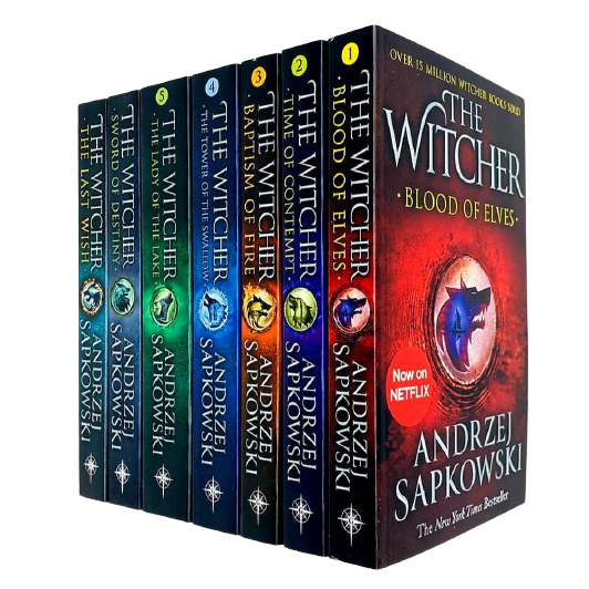 Andrzej Sapkowski The Witcher Series 7 Books Collection Set Last Wish New - The Book Bundle