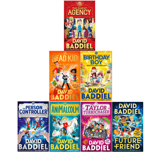 David Baddiel Collection 7 Books Set (Parent Agency, Head Kid, Birthday Boy, The Person Controller, AniMalcolm, Taylor Turbochaser, Future Friend) - The Book Bundle