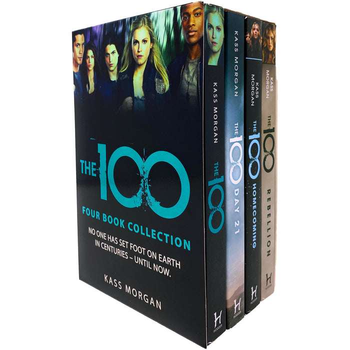 The 100 Complete 4 Books Collection Box Set by Kass Morgan (The 100, Day 21, Homecoming & Rebellion)