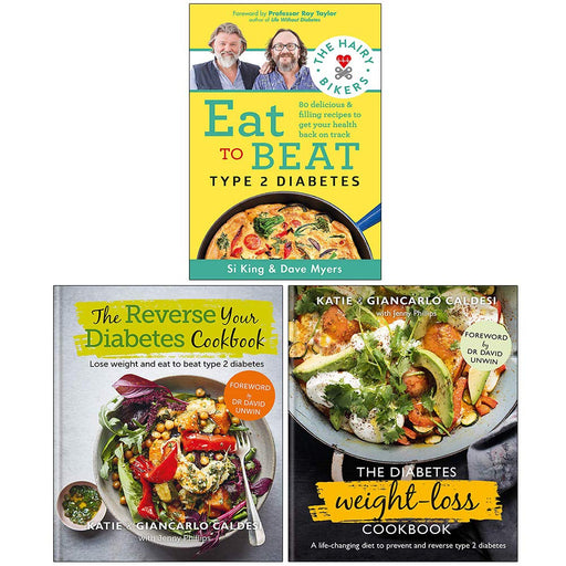 The Hairy Bikers Eat to Beat Type 2 Diabetes,The Reverse Your Diabetes , The Diabetes Weight-Loss 3 Books Collection Set - The Book Bundle