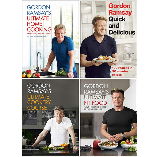Gordon Ramsay Collection 4 Books Set  Hardcover NEW - The Book Bundle