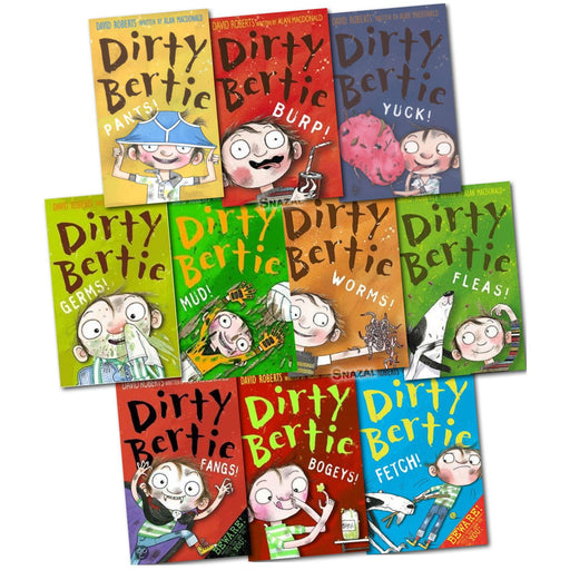 Dirty Bertie Series 1 Collection By Alan MacDonald 10 Books Gift Set - The Book Bundle