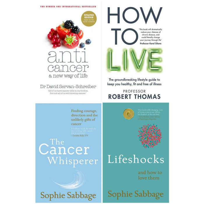 Anticancer, How to Live, Cancer Whisperer, Lifeshocks 4 Books Collection Set - The Book Bundle