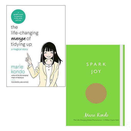 Life-Changing Manga of Tidying Up And Spark Joy 2 Books Collection Set PB NEW - The Book Bundle