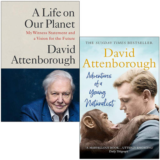 A Life on Our Planet & Adventures of a Young Naturalist By David Attenborough 2 Books Collection Set - The Book Bundle