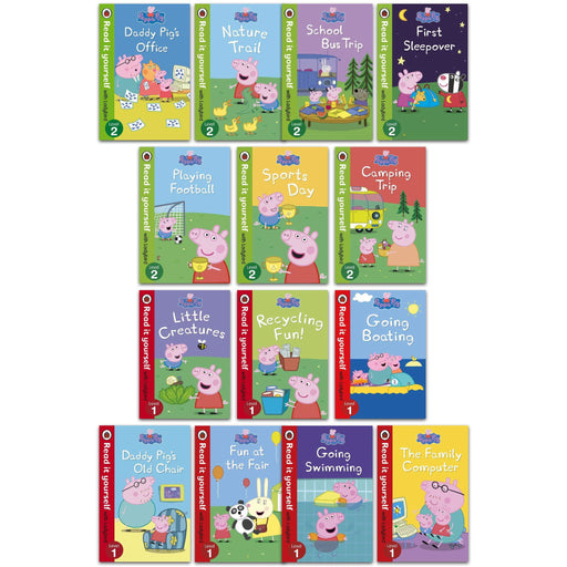 Peppa Pig Read It Yourself with Ladybird 14 Books Children Collection Set - The Book Bundle