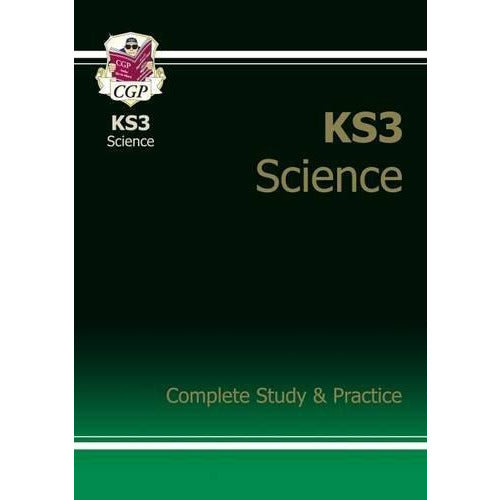 CGP Books KS3 Complete Study & Practice Collection 3 Books Set (Maths, English, Science) - The Book Bundle
