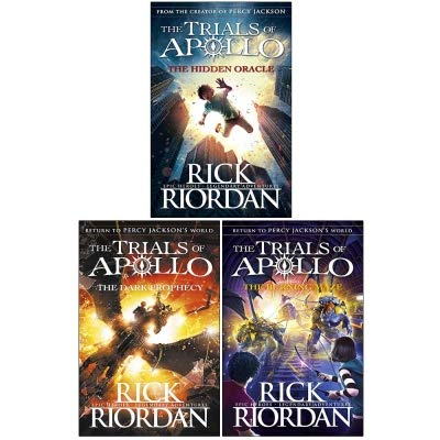 Rick riordan trials of apollo collection 3 books set (dark prophecy, hidden oracle, burning maze) - The Book Bundle