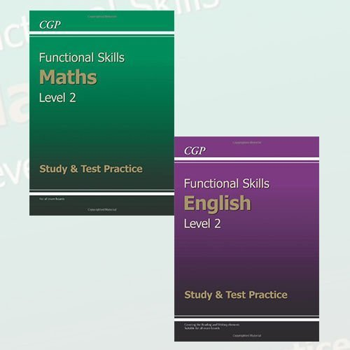 Functional Skills Level 2 Study & Test Practice Collection 2 Books Set - The Book Bundle