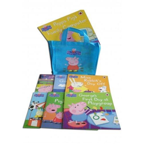 Peppa Pig: (BLUE) Storybook Bag x 10 - The Book Bundle