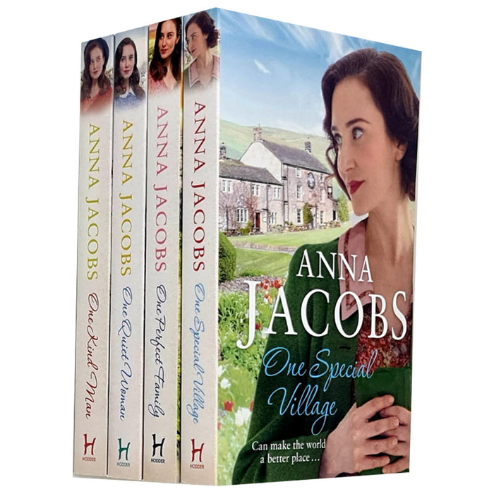 Ellindale Series 4 Books Collection Set By Anna Jacobs (One Quiet Woman, One Kind Man, One Special Village, One Perfect Family) - The Book Bundle