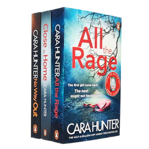 Cara Hunter's No Way Out,In The Dark,All the Rage 3 Books Collection Set - The Book Bundle
