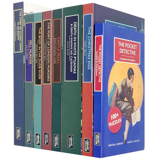 British Library Crime Classics Series Collection 8 Books Set Pocket Detective - The Book Bundle