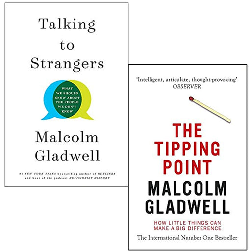Malcolm Gladwell 2 Books Collection Set (Talking to Strangers,The Tipping Point) - The Book Bundle