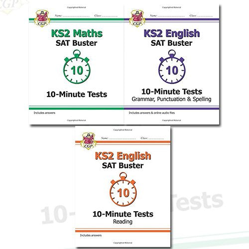 New KS2 SAT Buster 10-Minute Tests Collection 3 Books Bundle - The Book Bundle