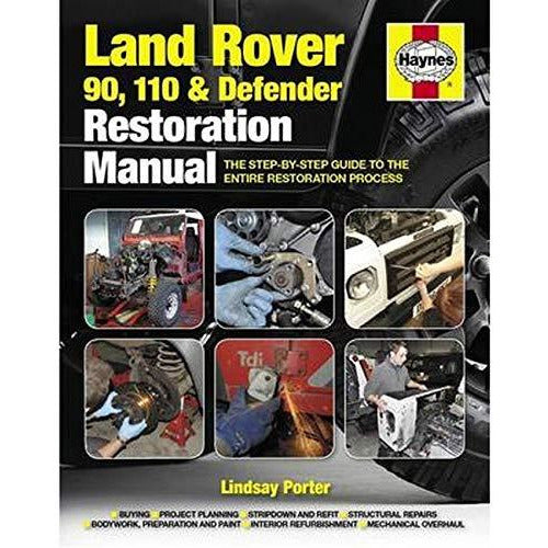 Land Rover 90. 110 & Defender Restoration Manual by Lindsay Porter - The Book Bundle