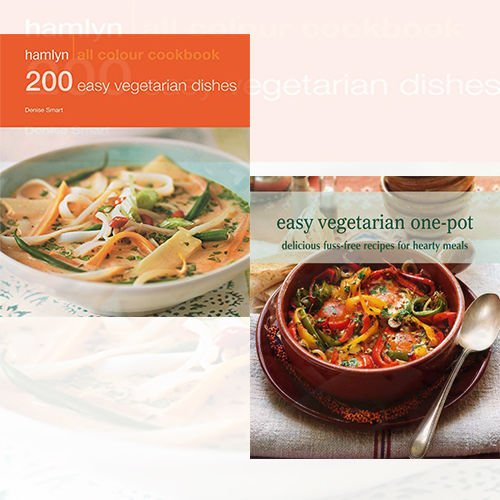 Easy Vegetarian One Pot and 200 Easy Vegetarian Dishes 2 Books Bundle Collection - Hamlyn All Colour Cookbook - The Book Bundle