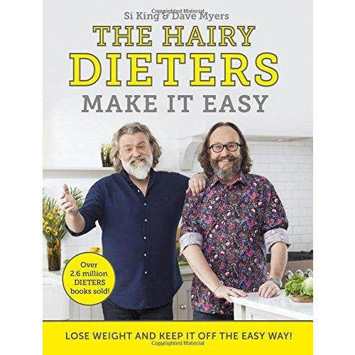 Hairy Bikers 2 Books Collection Set (The Hairy Dieters Go Veggie, The Hairy Dieters Make It Easy) - The Book Bundle